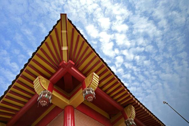 东方民族庙宇 民族 庙宇古建筑 仿古 复古 屋顶 房顶 老建筑 翻新