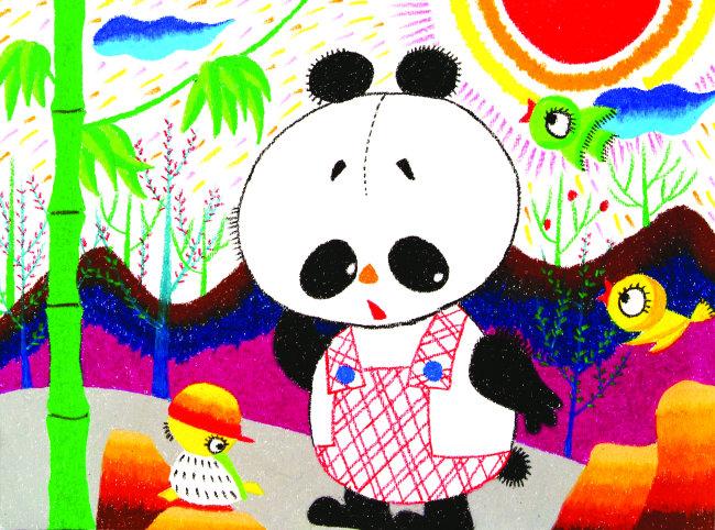小熊猫和小鸡