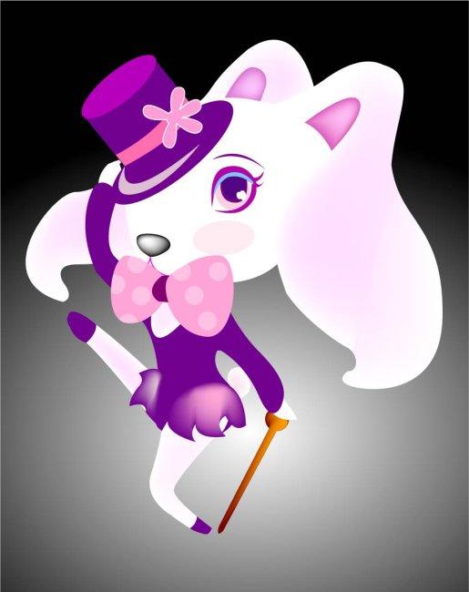 278 兆  带礼帽的兔子 妩媚 性感 兔子 蝴蝶结 漂亮 花