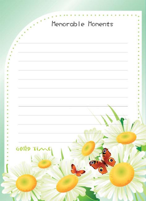 宝宝记事内页-信封信纸模板-其他