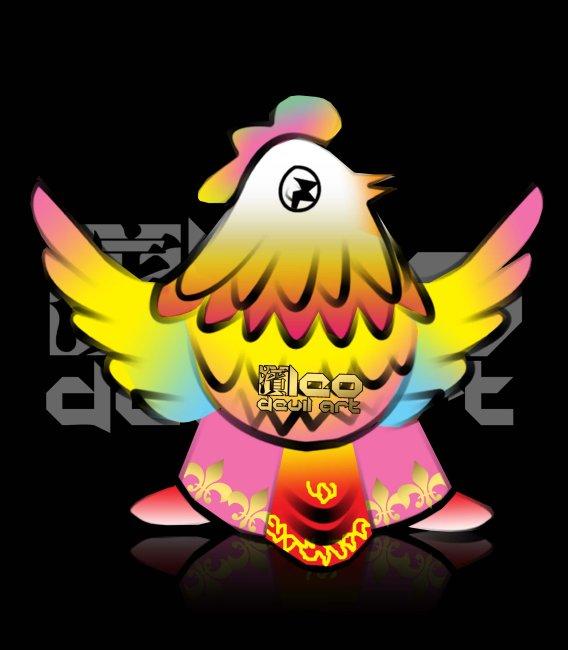 原创12生肖卡通形象设计 十二生肖鸡