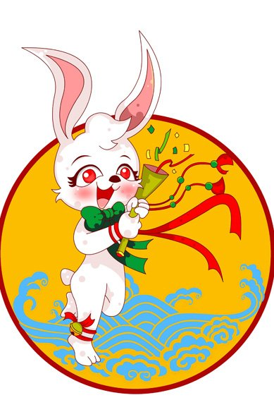 传统生肖 兔子 卡通形象之图图1号-13