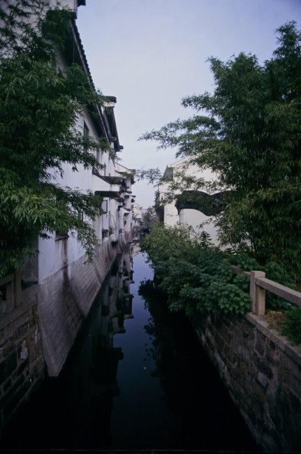 苏州园林十全街水巷