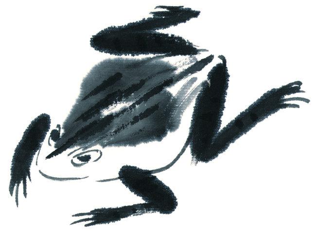 青蛙水墨步骤图