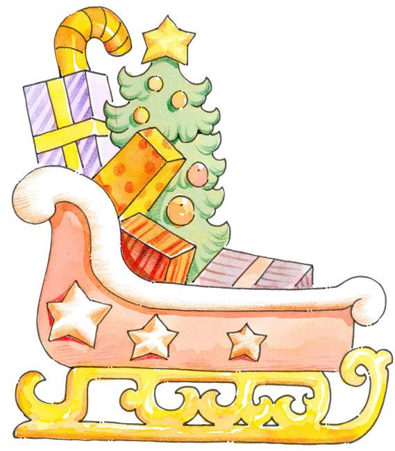 圣诞节儿童绘画图片