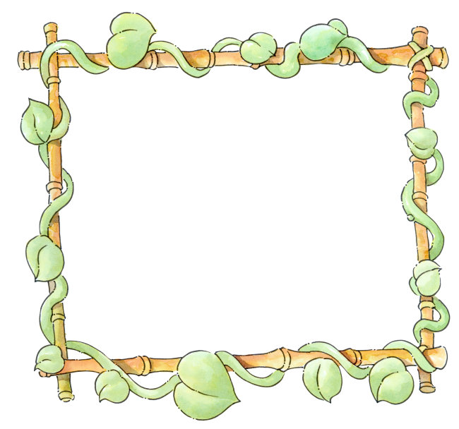 树藤边框手绘图片
