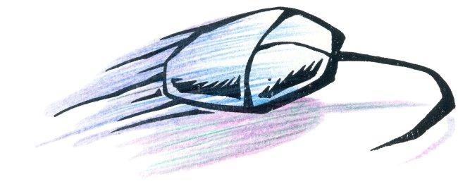 卡通鼠标画