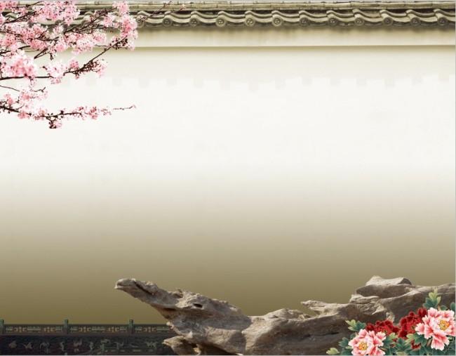 屋檐 中国风 海报 背景