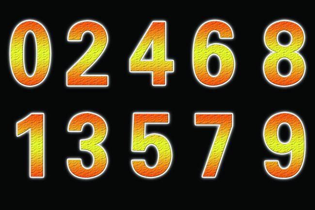 3d立体数字 彩色字