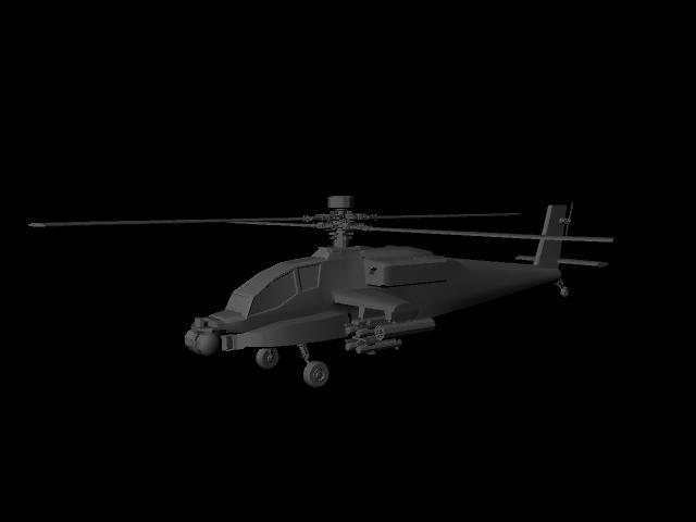直升机精美模型maya源文件