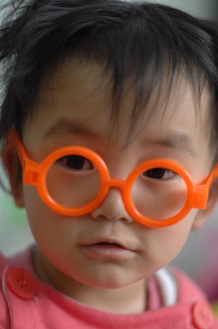 可爱 带眼镜图片