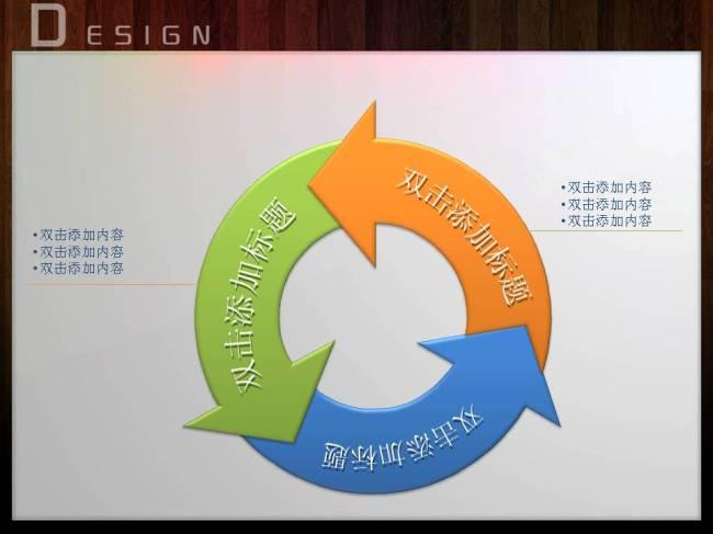 循环关系ppt表格-ppt图表-ppt模板 ppt图表 年终总结