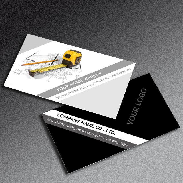 首页 正版设计稿 房地产 名片 >建筑装潢名片psd模板免费下载图片