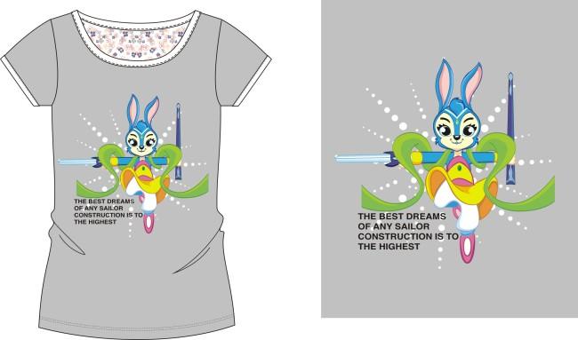 t恤设计-插画 元素 卡通-其他