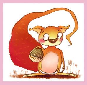 982 兆  卡通动物 动物形象 可爱的 小松鼠 动物 tif文件 动物