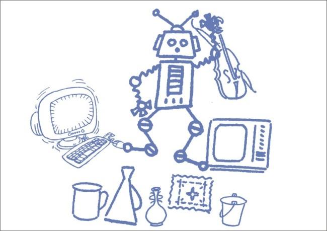 电脑机器人-手绘画