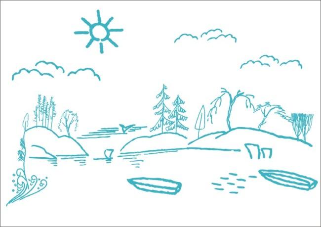 柳树图片简笔画,简笔画柳树的画法图片,柳树的简 .