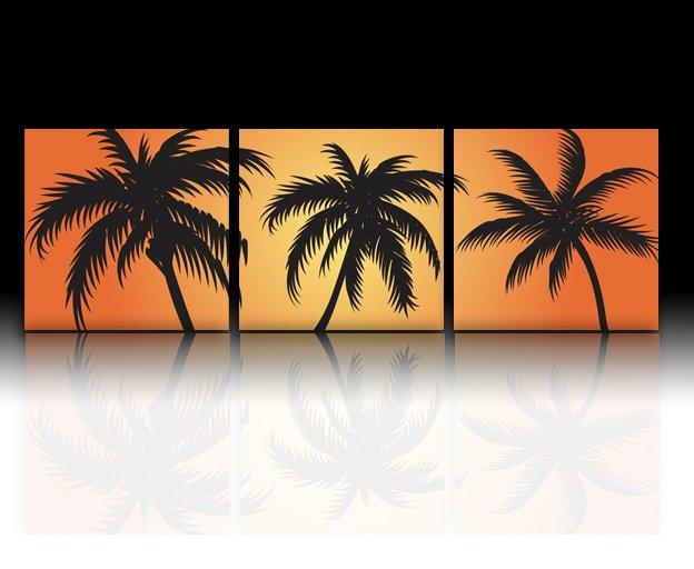 无框画 椰子树
