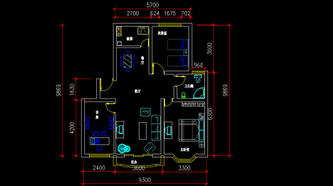 cad客厅装修图纸源文件 室内 中小户型室内设计图纸