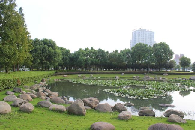 水边公园景观手绘设计图