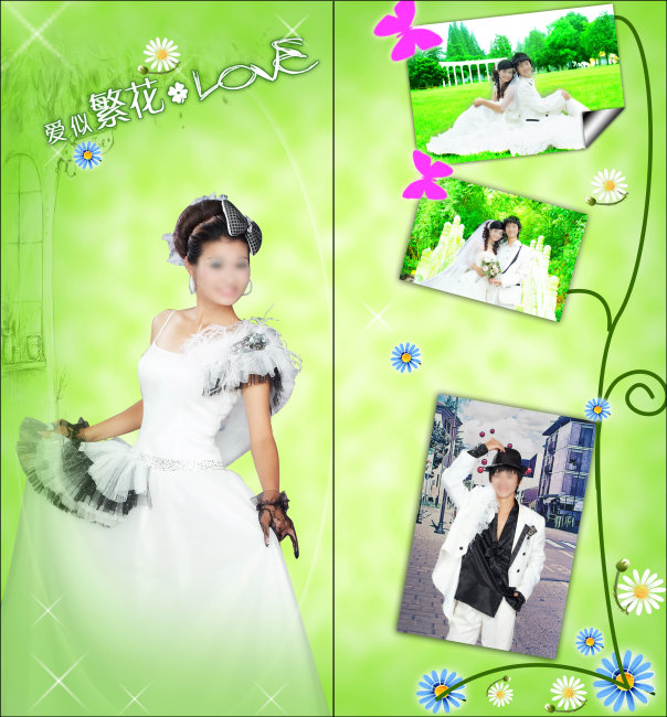 婚纱照玻璃移门-移门-室内装饰|无框画|背景墙