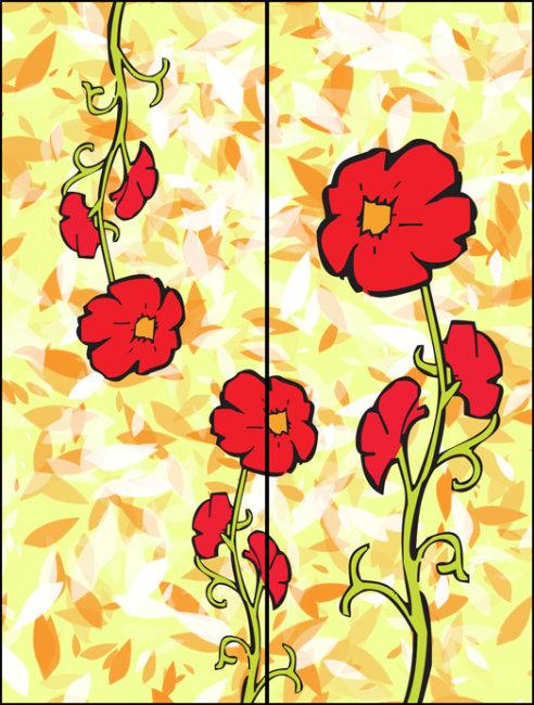 移门大全 移门图案 玻璃移门 移门效果图 移门图片大全 花纹移门 花朵