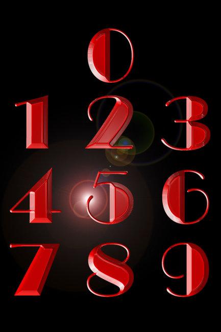 数字像什么1到9图片