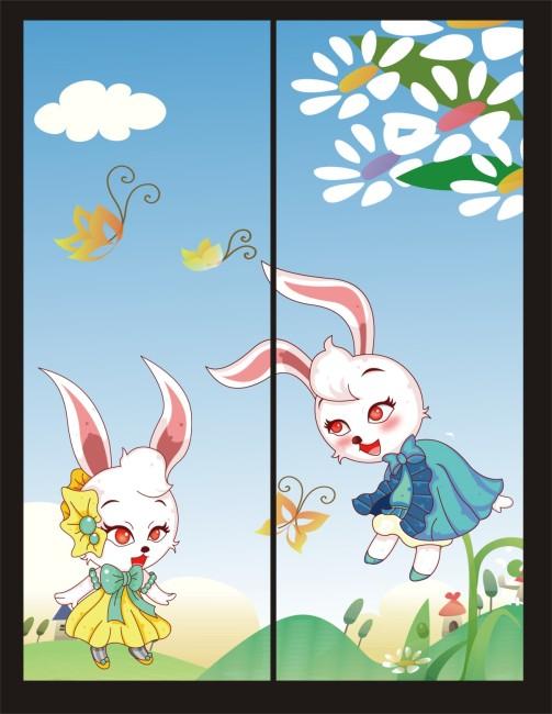 2011最新可爱兔兔卡通移门