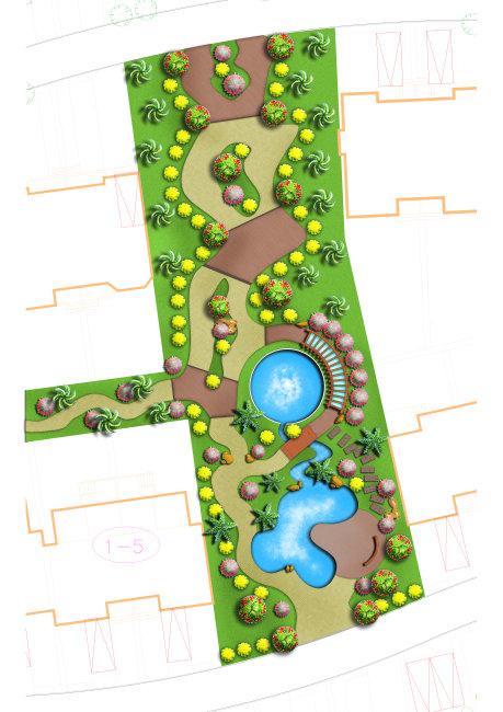 园林设计—小区景观规划图