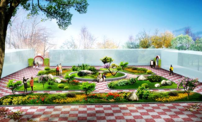 工厂绿化景观设计效果图-园林设计-其他