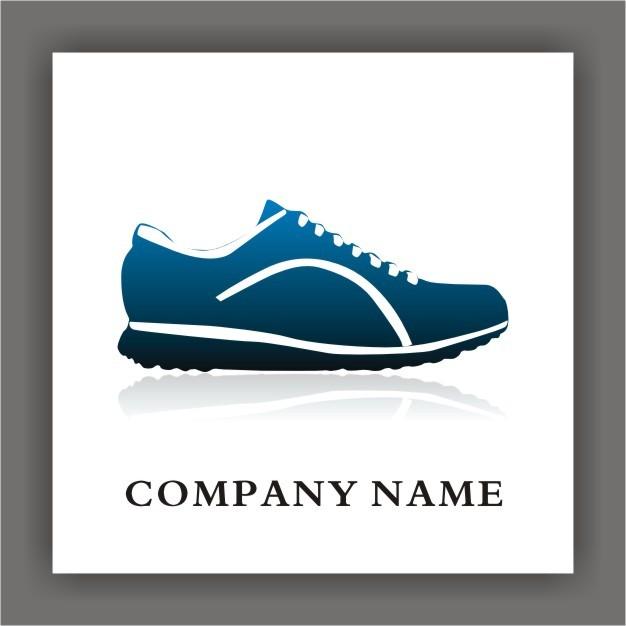运动鞋行业矢量标志logo