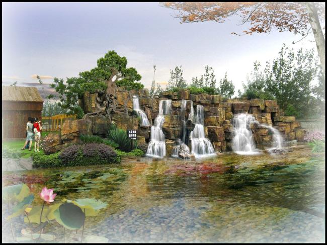 假山流水-园林设计-其他