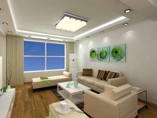 现代简约客厅 室内设计 室内装饰 无框画 背景墙