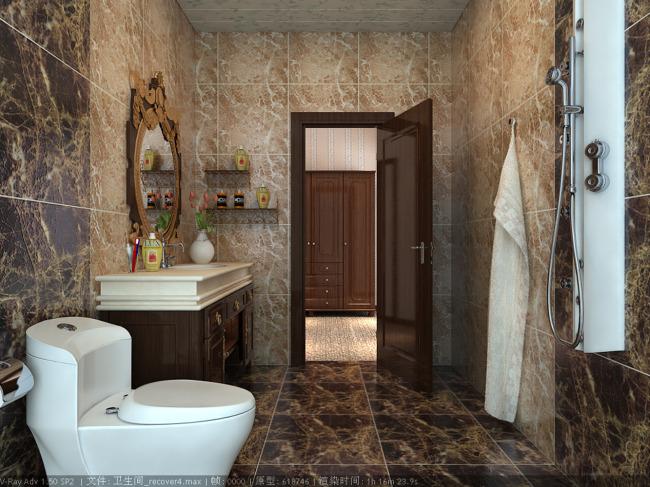 卫生间设计图 高清图片