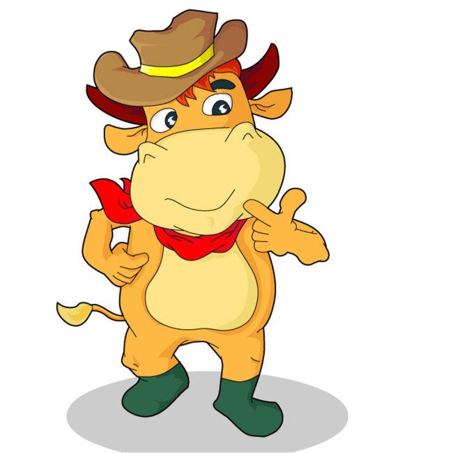 卡通小牛形象2图片