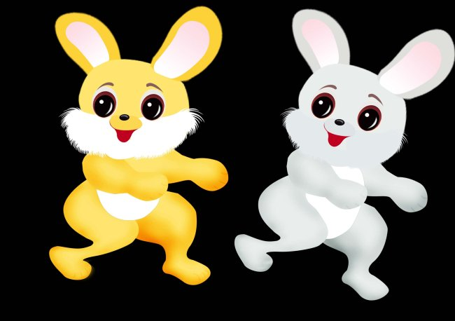 可爱小兔子-插画|元素|卡通-其他