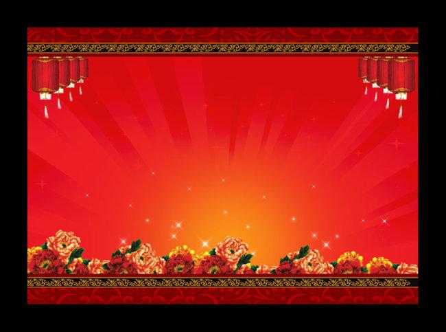 灯笼素材 红色背景