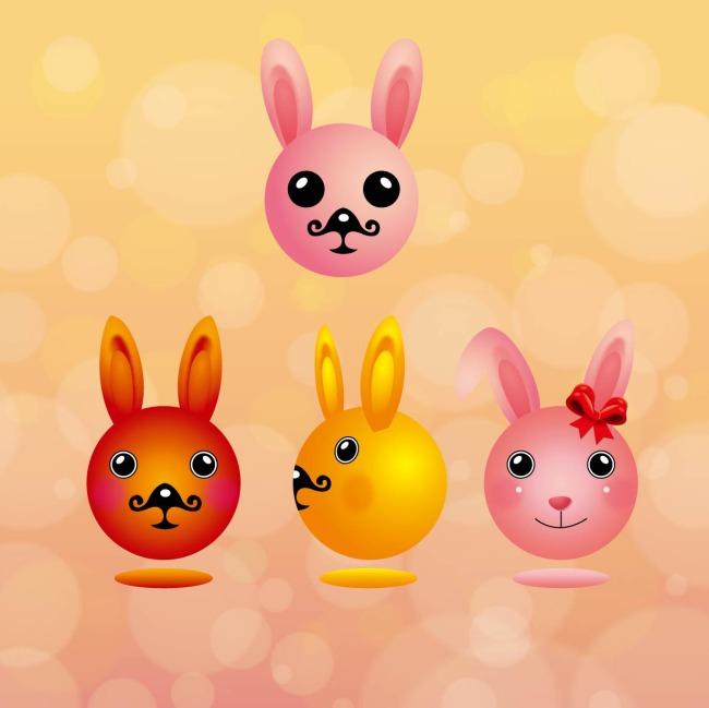 可爱的兔子一家