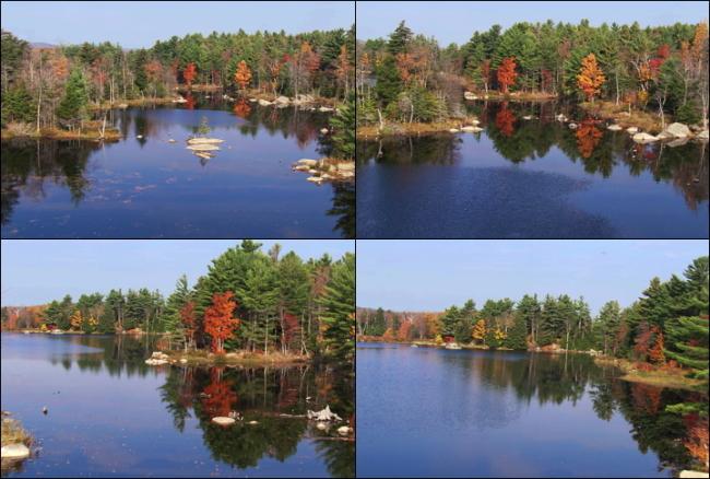 影视制作素材森林湖泊航拍高清视频