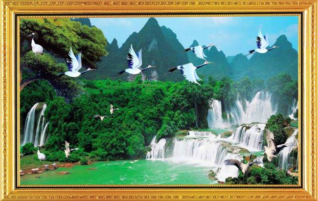 图片名称:山水风景画