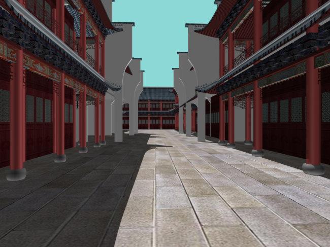 古代城市建筑效果图