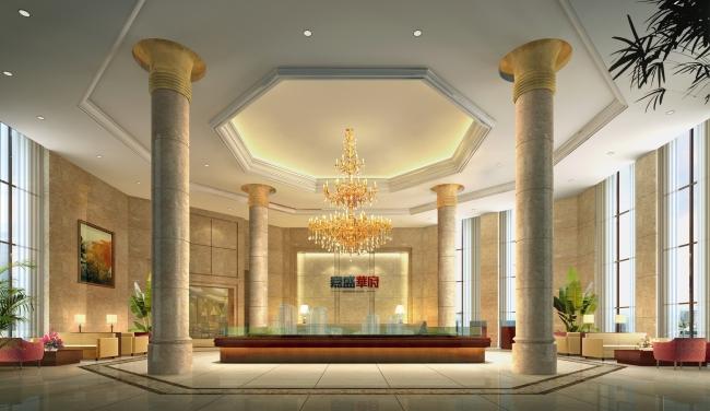 豪华酒店大厅设计效果图