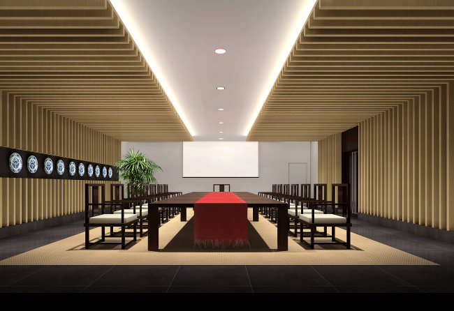 【jpg】室内装修会议室设计效果图图片