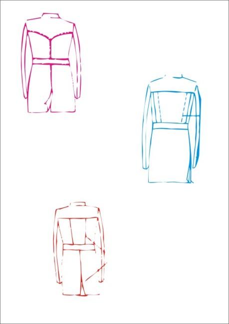 男装中褛-服装设计