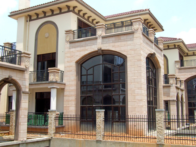 装潢 浮雕墙 外墙 工程效果 室外 墙面 居所 房子 工程 复式别墅 高级
