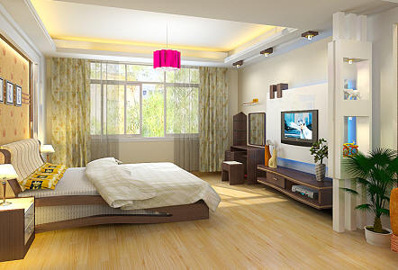 室内3dmax效果设计 卧室整体模型