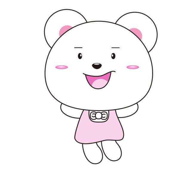 可爱笨笨熊-插画|元素|卡通-其他