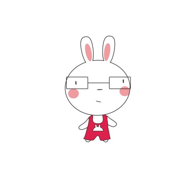卡通小白兔无背景