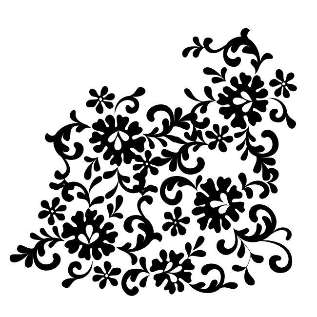 首页 正版设计稿 花纹图案设计 欧式花纹 >白色背景黑色矢量花纹背景