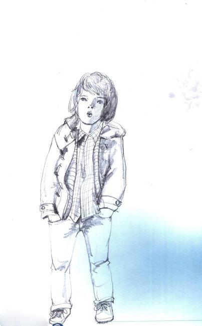 哲幽可爱儿童服装插画